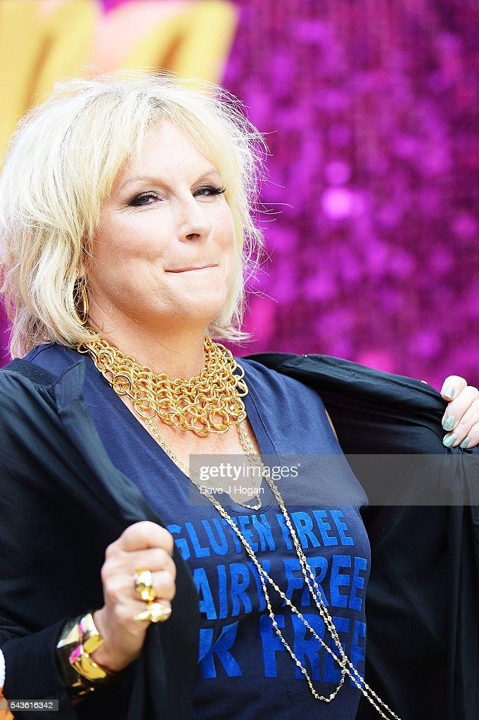 <a gi-track='captionPersonalityLinkClicked' href=/galleries/search?phrase=Jennifer+Saunders&family=editorial&specificpeople=210714 ng-click='$event.stopPropagation()'>Jennifer Saunders</a> attends the World Premiere of 'Absolutely Fabulous: The Movie' at Odeon Leicester Square on June 29, 2016 in London, England.