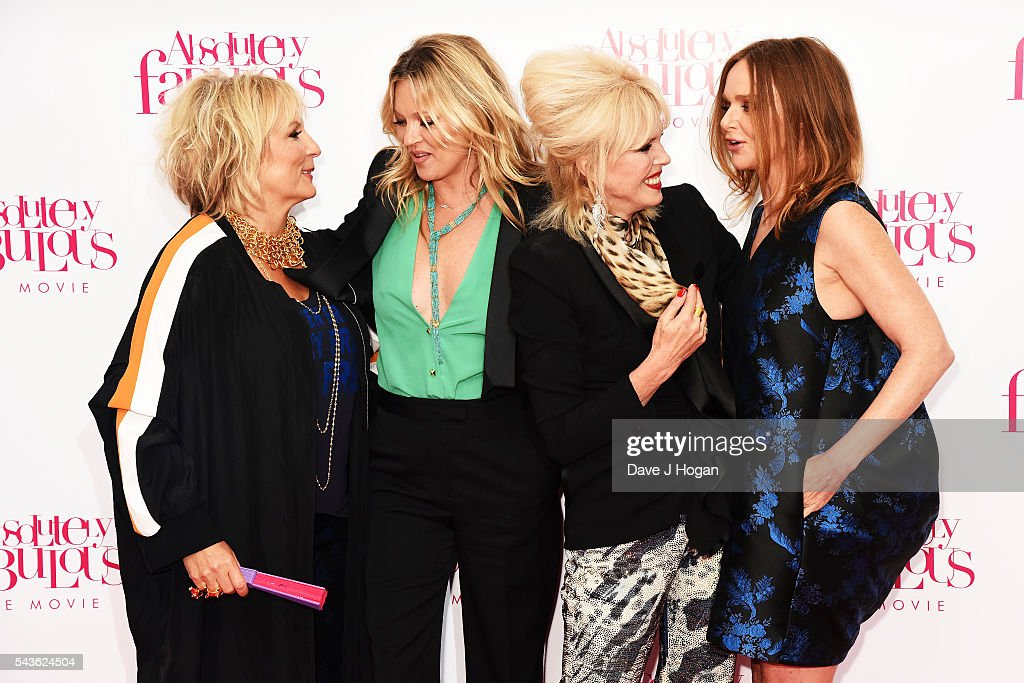 Jennifer Saunders, Kate Moss, Joanna Lumley and Stella McCartney attend the World Premiere of 'Absolutely Fabulous: The Movie' at Odeon Leicester Square on June 29, 2016 in London, England.