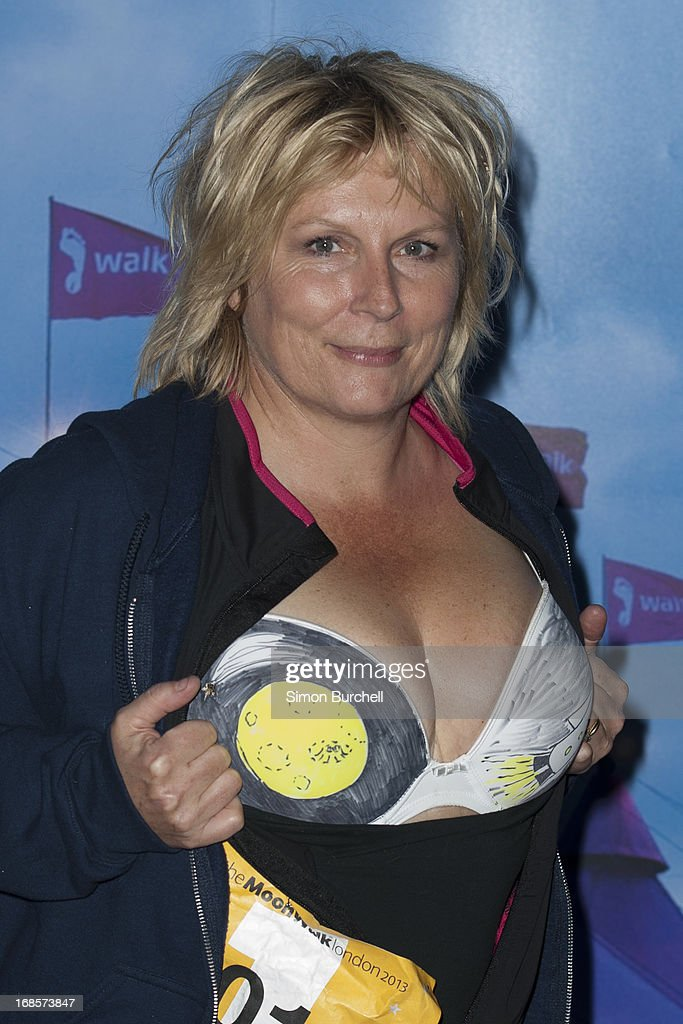 <a gi-track='captionPersonalityLinkClicked' href=/galleries/search?phrase=Jennifer+Saunders&family=editorial&specificpeople=210714 ng-click='$event.stopPropagation()'>Jennifer Saunders</a> takes part in The Moonwalk London at battersea park on May 11, 2013 in London, England.