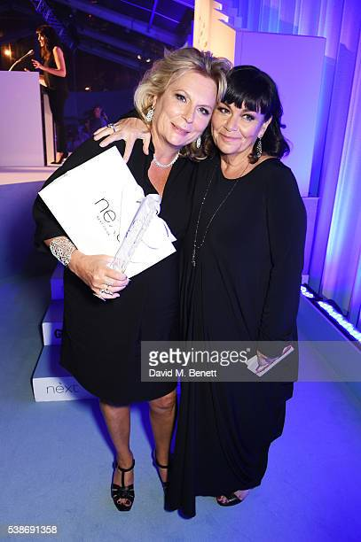 Jennifer Saunders winner of the Outstanding Contribution award and Dawn French attend the Glamour Women Of The Year Awards in Berkeley Square Gardens...