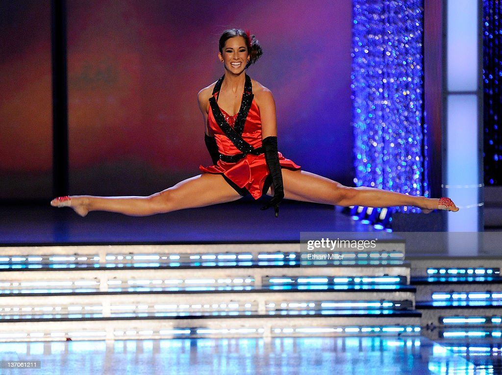 Jennifer Sedler, Miss Arizona, competes in the talent competition during the 2012 Miss America Pageant at the Planet Hollywood Resort & Casino January 14, 2012 in Las Vegas, Nevada.