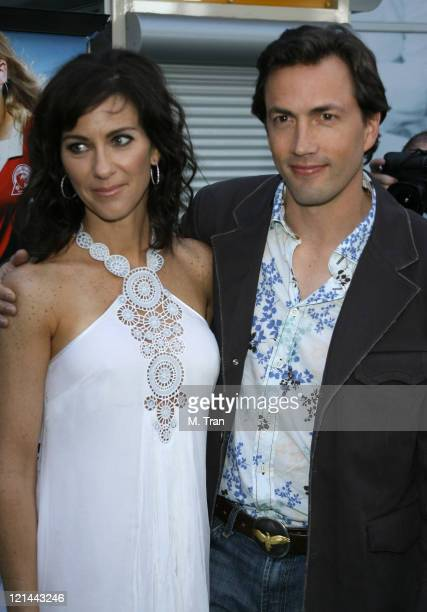 Jennifer Shue and Andrew Shue during 'Gracie' Los Angeles Premiere Arrivals at The ArcLight in Hollywood California United States