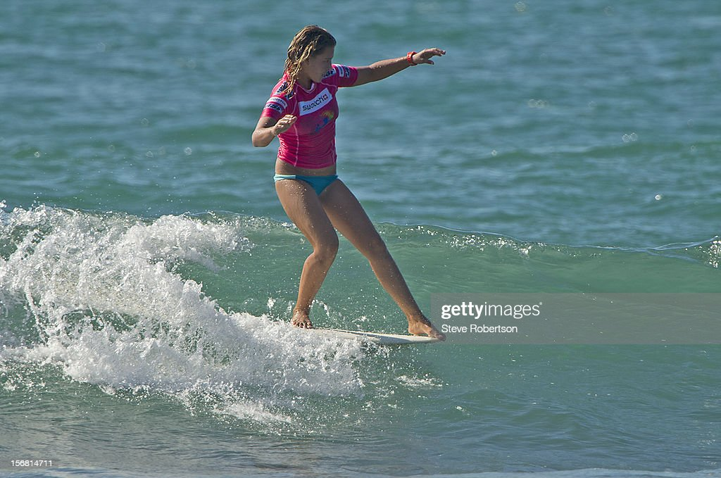 Jennifer Smith of USA surfs during the SWATCH Girls Pro on November 22, 2012 in Hainan Island, China. Smith is a former two-time ASP World Longboard Champion.