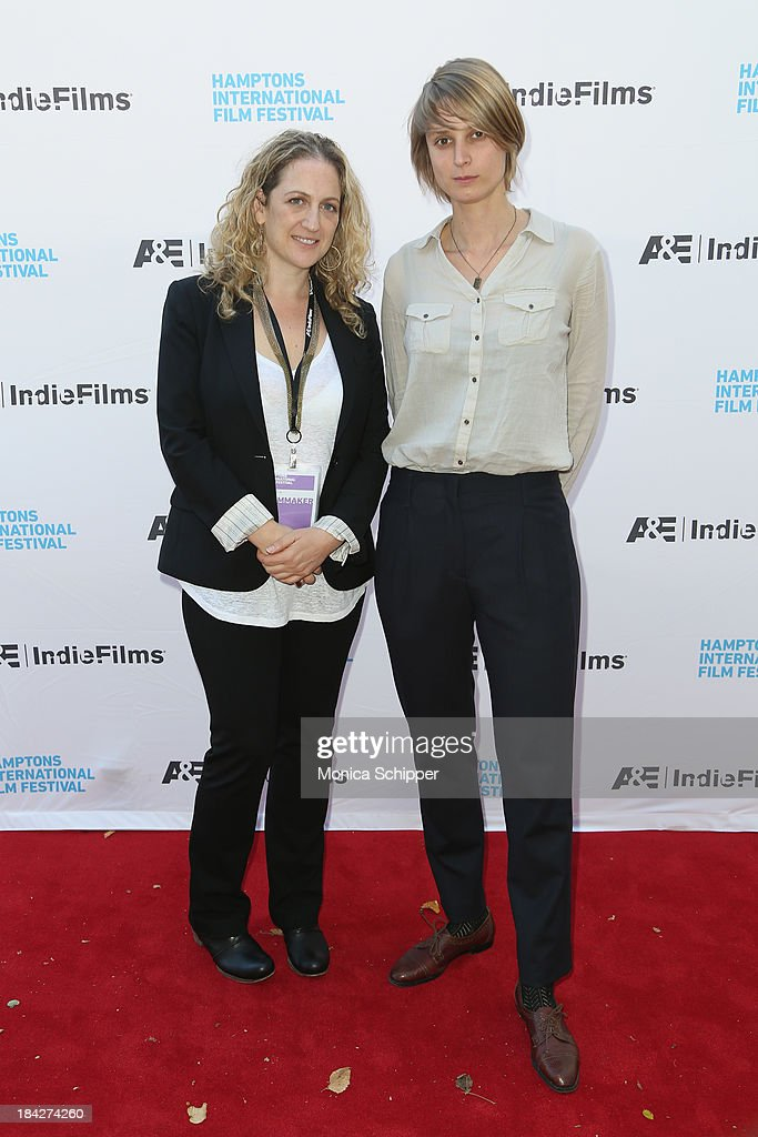 Jennifer Steinman (L) and Liesbeth De Ceulaer attend the 21st Annual Hamptons International Film Festival on October 12, 2013 in East Hampton, New York.