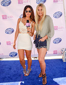 Jennifer Tapiero and Alli Simpson attend American Idol Auditions At bBooth on August 15 2015 in Culver City California Photo by Michael Bezjian/Getty...