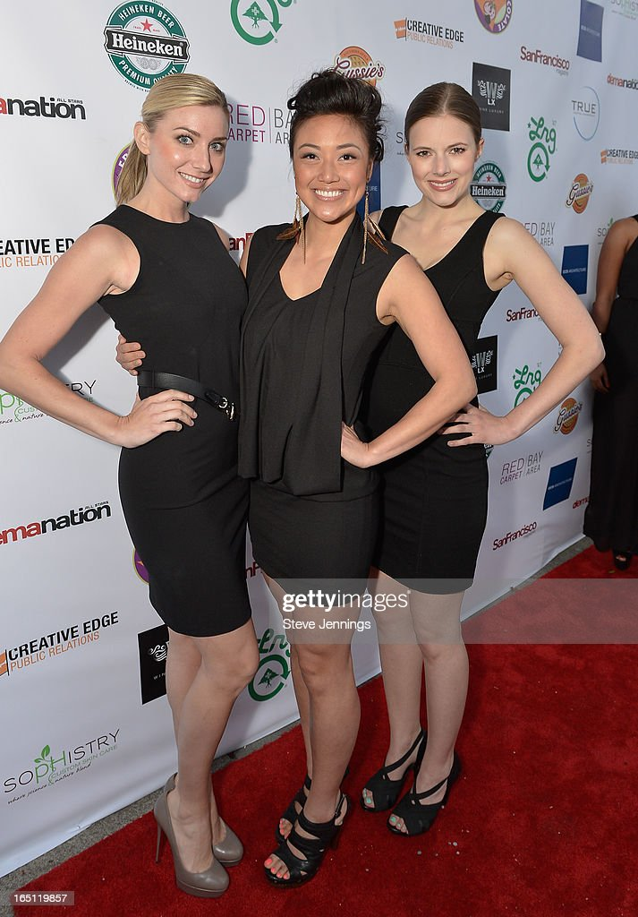 Jennifer Taylor, June Quan and Johanna Wishman (L-R) attend the 6th Annual 'Where Hip Hop Meets Couture' Fashion Show at Dog Patch Wine Works on March 30, 2013 in San Francisco, California.