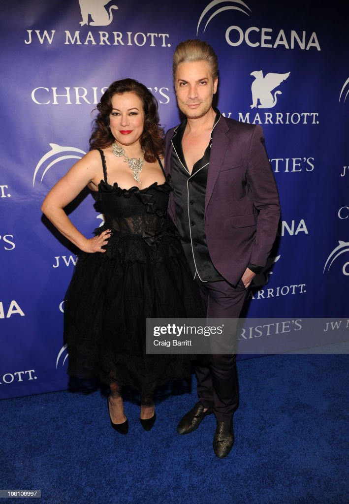 Jennifer Tilly and Cameron Silver attend The Inaugural Oceana Ball at Christie's on April 8, 2013 in New York City.
