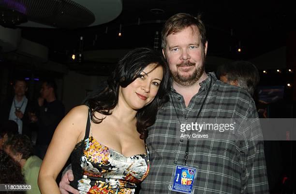 Jennifer Tilly and David Beaird director during Palm Springs International Film Festival Gala Party at the Deck at The Deck in Palm Springs...