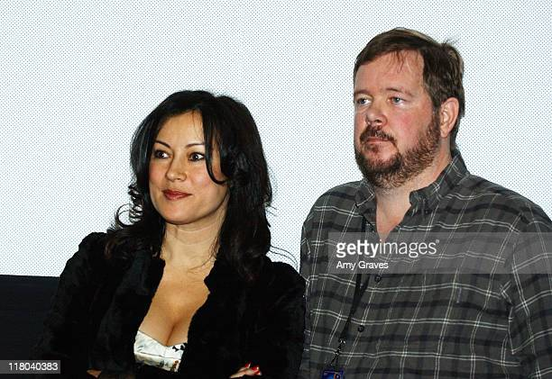 Jennifer Tilly and David Beaird director during Palm Springs International Film Festival 'Civilization of Maxwell Bright' Screening at Regal Cinemas...
