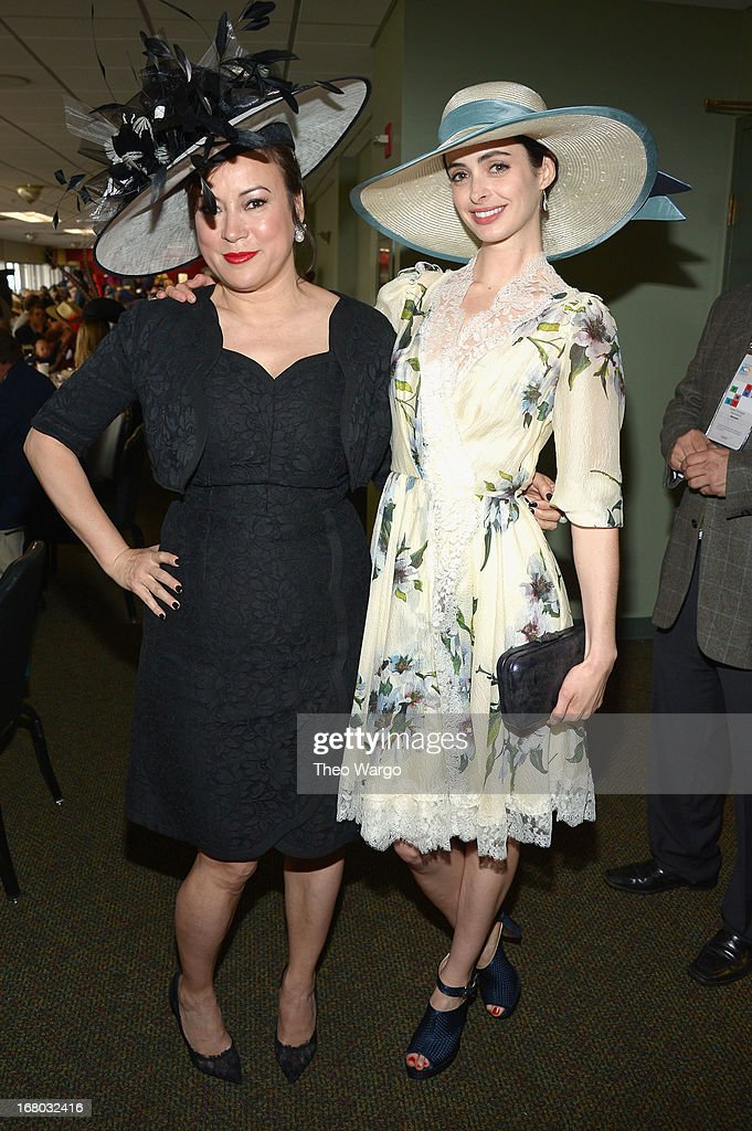 <a gi-track='captionPersonalityLinkClicked' href=/galleries/search?phrase=Jennifer+Tilly&family=editorial&specificpeople=202575 ng-click='$event.stopPropagation()'>Jennifer Tilly</a> and <a gi-track='captionPersonalityLinkClicked' href=/galleries/search?phrase=Krysten+Ritter&family=editorial&specificpeople=655673 ng-click='$event.stopPropagation()'>Krysten Ritter</a> at the GREY GOOSE Red Carpet Lounge at the Kentucky Derby at Churchill Downs on May 4, 2013 in Louisville, Kentucky.