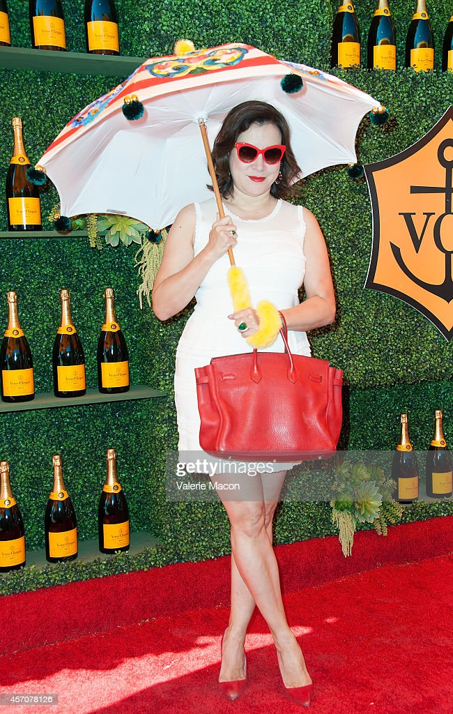 Jennifer Tilly arrives at the FifthAnnual Veuve Clicquot Polo Classic Los Angeles at Will Rogers State Historic Park on October 11 2014 in Pacific...