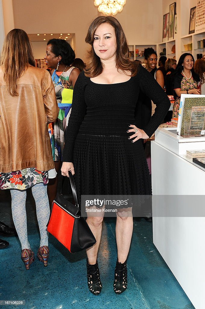 Jennifer Tilly attends Director's Circle Celebrates Wear LACMA, Sponsored By NET-A-PORTER And W at LACMA on April 24, 2013 in Los Angeles, California.