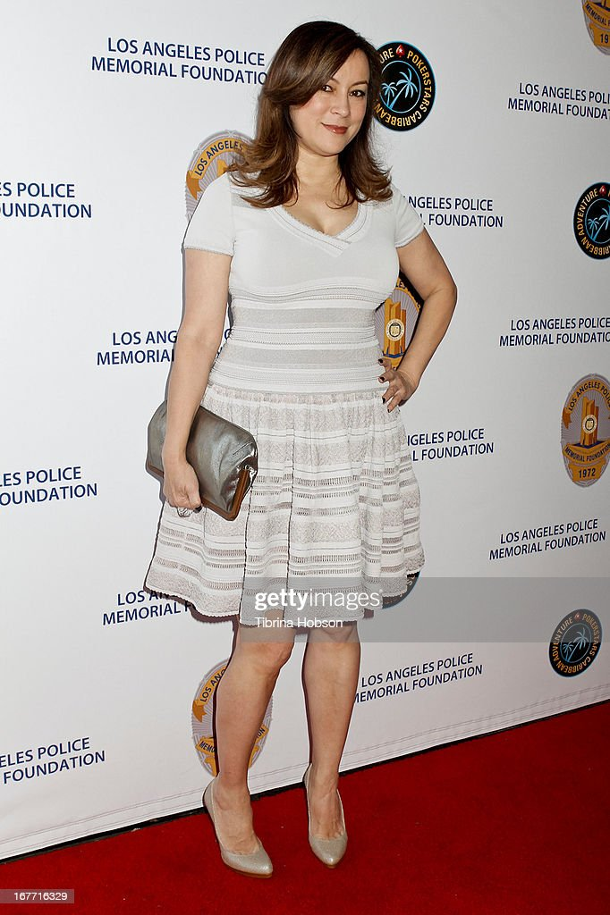Jennifer Tilly attends the Los Angeles Police Memorial Foundation's celebrity poker tournament at Saban Theatre on April 27, 2013 in Beverly Hills, California.