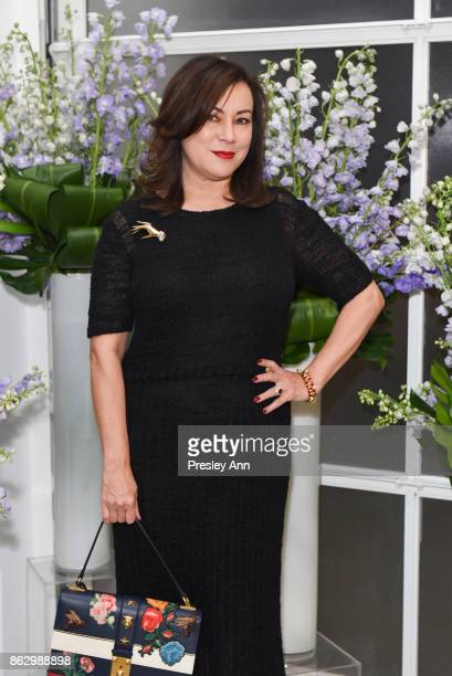 Jennifer Tilly attends VIP Conversation for Women's Brain Health Initiative Hosted by Sharon Stone at Gagosian Gallery on October 18 2017 in Beverly...