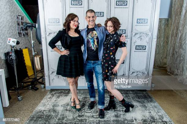 Jennifer Tilly Don Mancini and Fiona Dourif discuss 'Cult of Chucky' with the Build Series at Build Studio on October 3 2017 in New York City