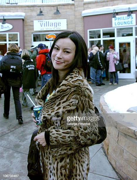 Jennifer Tilly during 2004 Sundance Film Festival Celebrity Sightings Day 4 at Main Street in Park City Utah United States