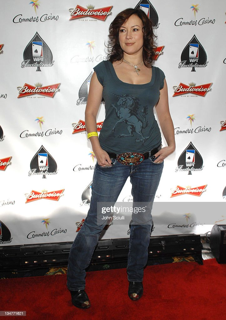 Jennifer Tilly during 2007 World Poker Tour Celebrity Invitational Red Carpet at Commerce Casino in Commerce California United States