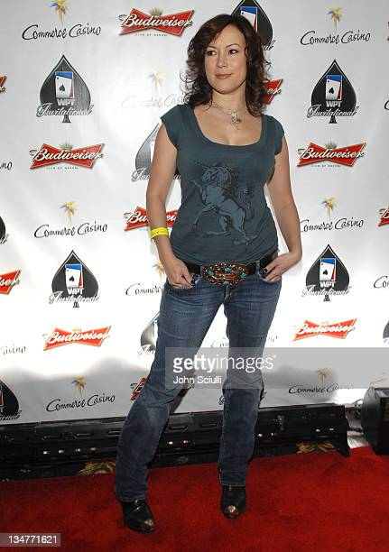 Jennifer Tilly during 2007 World Poker Tour Celebrity Invitational Red Carpet at Commerce Casino in Commerce California United States