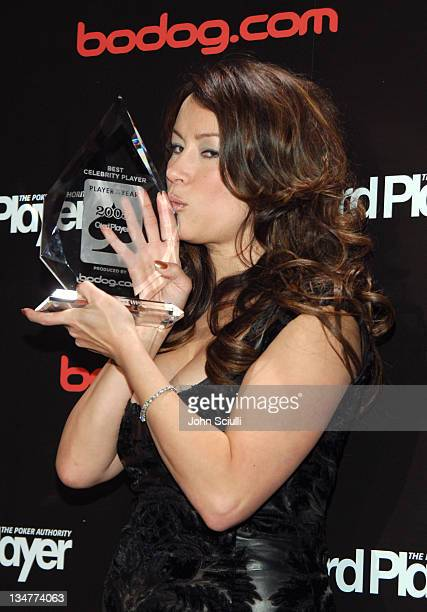 Jennifer Tilly during Bodogcom Presents Card Player's Player of the Year Awards Press Room at Henry Fonda Theatre in Los Angeles California United...