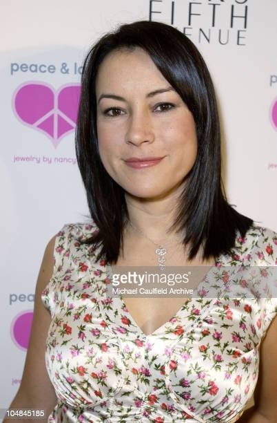 Jennifer Tilly during Peace and Love Jewelry by Nancy Davis Launch Party at Saks Fifth Avenue in Beverly Hills California United States