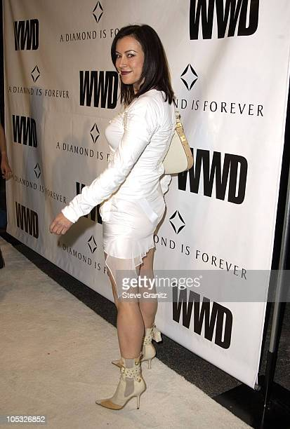 Jennifer Tilly during Women's Wear Daily The Ultimate Fashion Authority Hosted 'White Hot Diamonds' The Exclusive PreOscar Fashion Event Where...