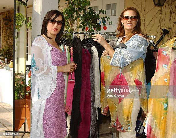 Jennifer Tilly looking at Adrienne Landau clothes during Frederic Fekkai Oscar Beauty And Fashion Suite Day 3 at Frederic Fekkai in Beverly Hills...