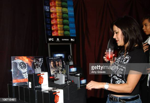 Jennifer Tilly looking at Hamilton Watch display during The 18th Annual IFP Independent Spirit Awards Official Talent Gift Bag Produced by On 3...