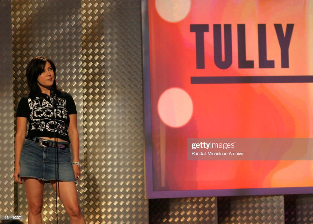 Jennifer Tilly presenting the Best Feature nominee 'Tully'