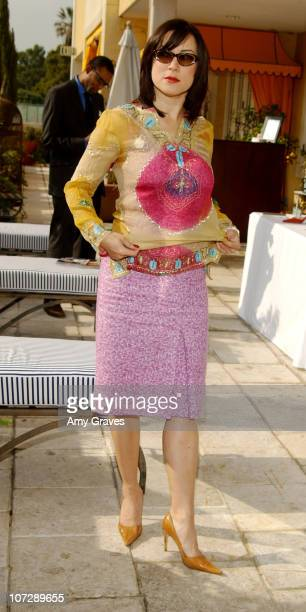 Jennifer Tilly wearing Adrienne Landau clothes during Frederic Fekkai Oscar Beauty And Fashion Suite Day 3 at Frederic Fekkai in Beverly Hills...