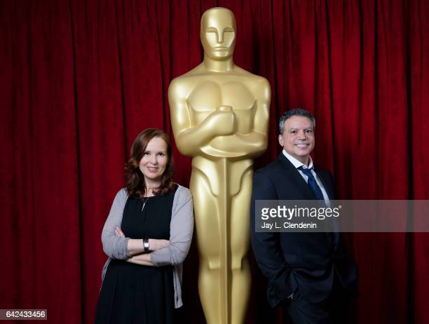 Jennifer Todd and Michael De Luca producers of the 2017 Academy Awards ceremony broadcast on ABC are photographed for Los Angeles Times on January 6...