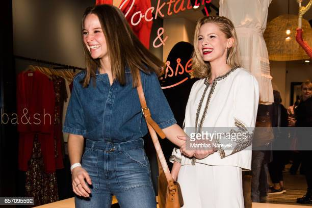 Jennifer Ulrich and Sonja Gerhardt attend the BaSh store opening on March 23 2017 in Berlin Germany