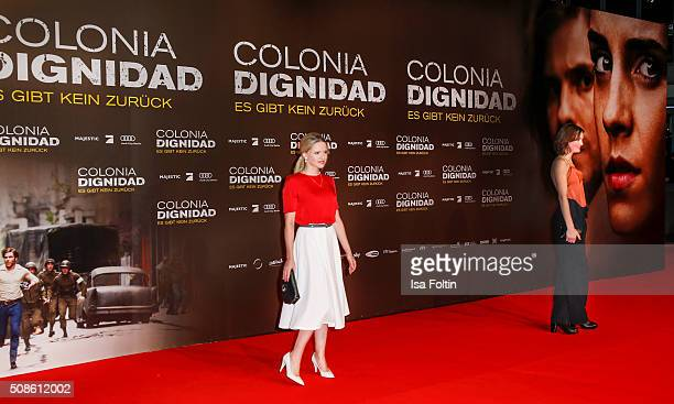 Jennifer Ulrich and Vicky Krieps attend the 'Colonia Dignidad Es gibt kein zurueck' Berlin Premiere on February 05 2016 in Berlin Germany