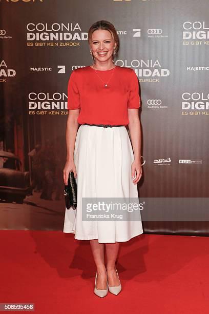 Jennifer Ulrich attends the 'Colonia Dignidad Es gibt kein zurueck' Berlin Premiere on February 5 2016 in Berlin Germany