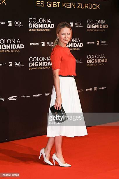 Jennifer Ulrich attends the 'Colonia Dignidad Es gibt kein zurueck' Berlin Premiere on February 05 2016 in Berlin Germany