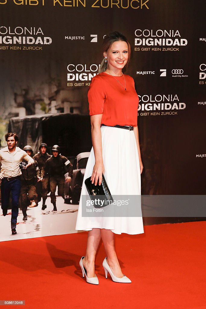 Jennifer Ulrich attends the 'Colonia Dignidad - Es gibt kein zurueck' Berlin Premiere on February 05, 2016 in Berlin, Germany.