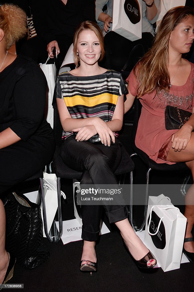 Jennifer Ulrich attends the Glaw Show during Mercedes-Benz Fashion Week Spring/Summer 2014 at Brandenburg Gate on July 5, 2013 in Berlin, Germany.