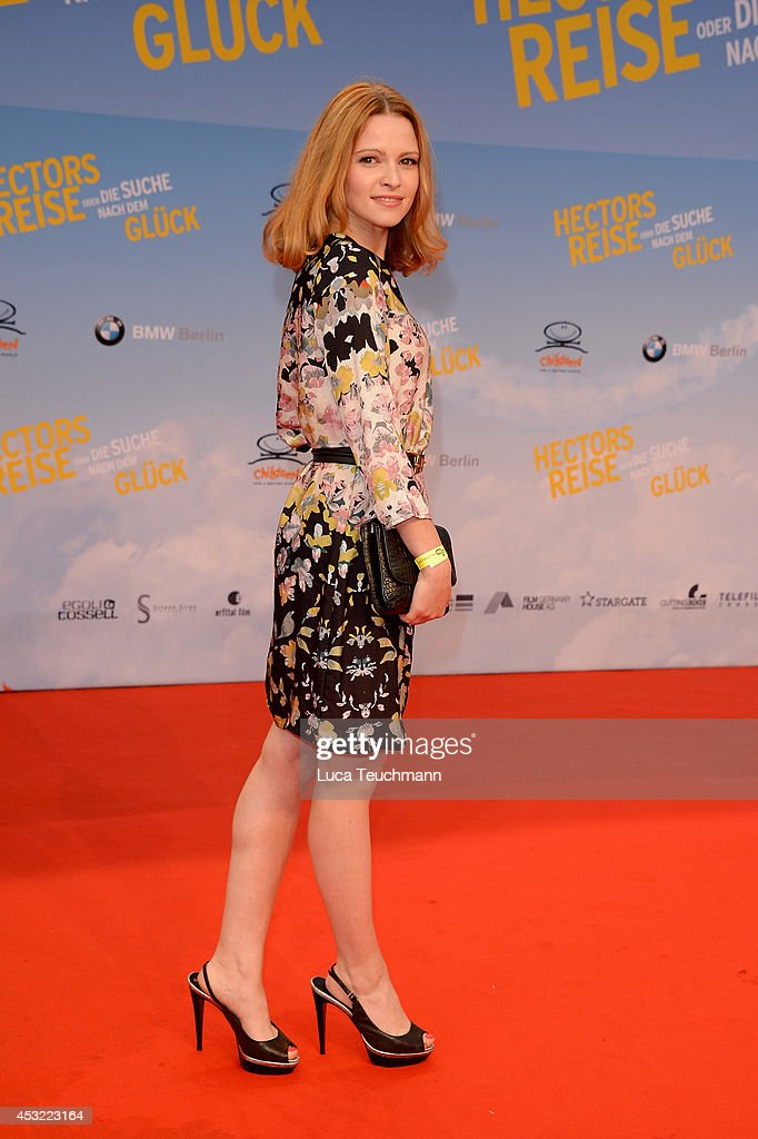Jennifer Ulrich attends the premiere of the film 'Hector and the Search for Happiness' (German title: 'Hectors Reise') at Zoo Palast on August 5, 2014 in Berlin, Germany.