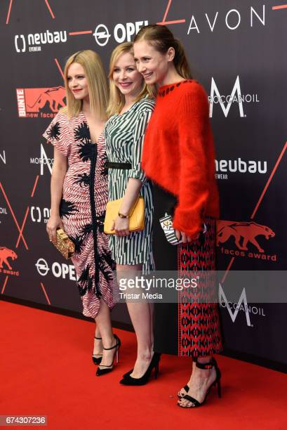 Jennifer Ulrich Jasmin Schwiers and Alina Levshin attend the New Faces Award Film at Haus Ungarn on April 27 2017 in Berlin Germany