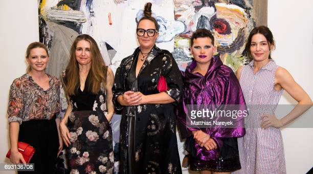 Jennifer Ulrich Patricia Piccinini Del Kathryn Barton Paul yore and Nicolette Krebitz attend the 'Mad Love' australian contemporary artists group...