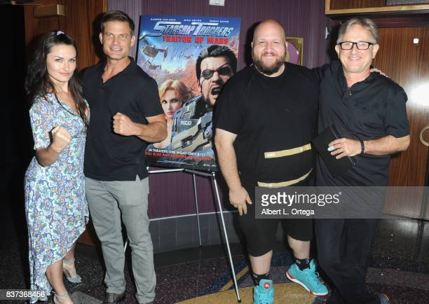 Jennifer Wenger Casper Van Dienand Stephen Kramer Glickman and Edward Neumeier participate in the 'Starship Troopers Traitor Of Mars' Q A and Meet...