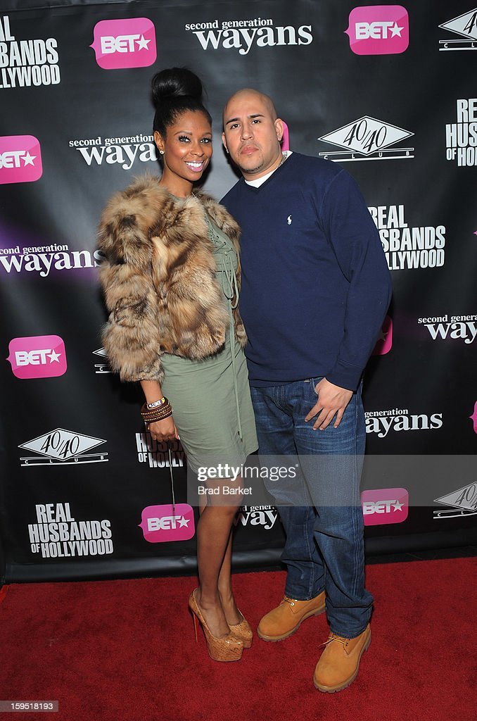 Jennifer Williams and Cisco Rosado attend BET Networks New York Premiere Of 'Real Husbands of Hollywood' And 'Second Generation Wayans' - After Party at 40 / 40 Club on January 14, 2013 in New York City.