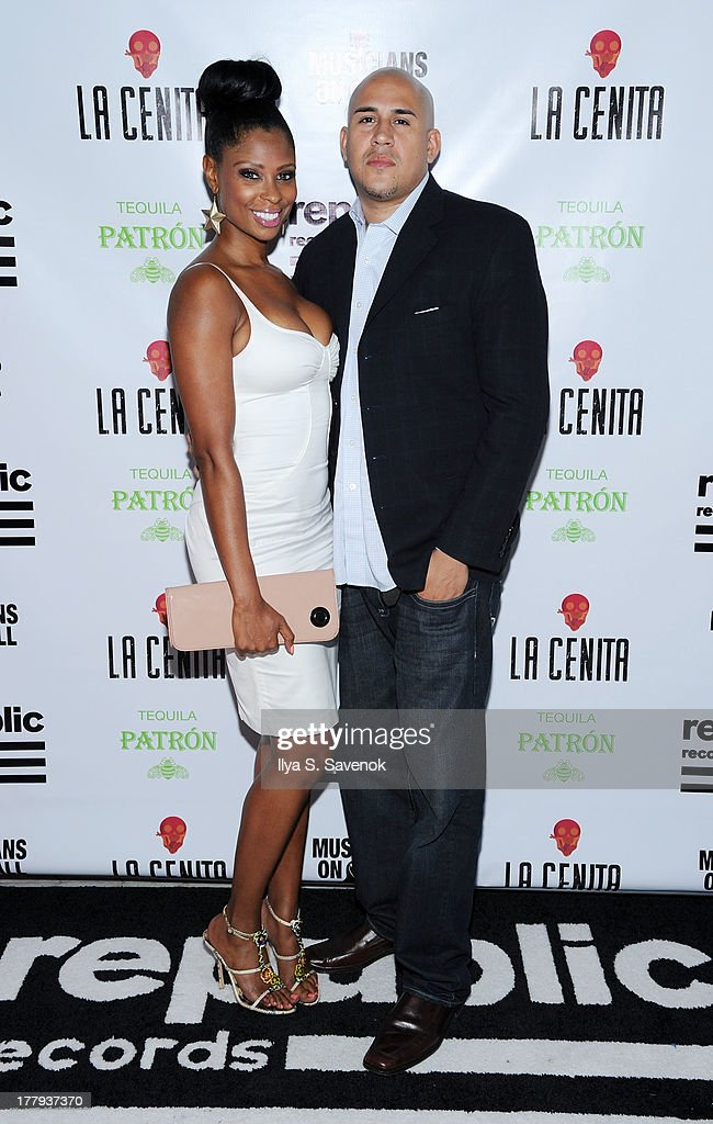 Jennifer Williams and Cisco Rosado attend Republic Records MTV VMA Viewing & After Party at La Cenita on August 25, 2013 in New York City.