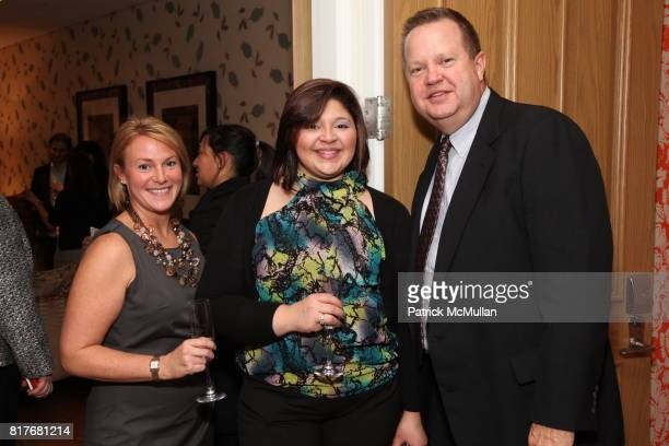 Jennifer Winter Iliana Cardona and Steve Schneider attend Peter Som For SFERRA New York Launch Event at Crosby Street Hotel on December 7 2010 in New...