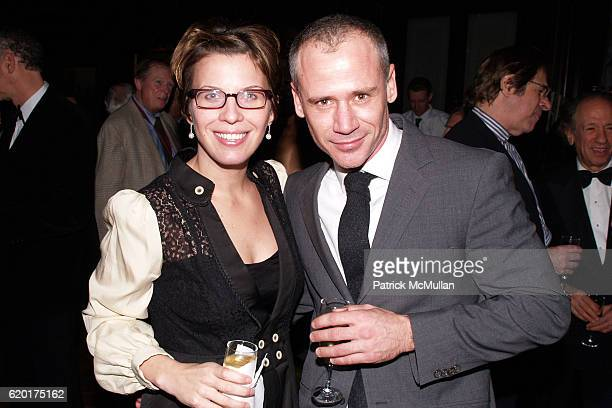 Jennifer Young and Dino Haloulos attend NATIONAL ARTS CLUB Dinner Honoring PRATT INSTITUTE at National Arts Club on November 11 2008 in New York City
