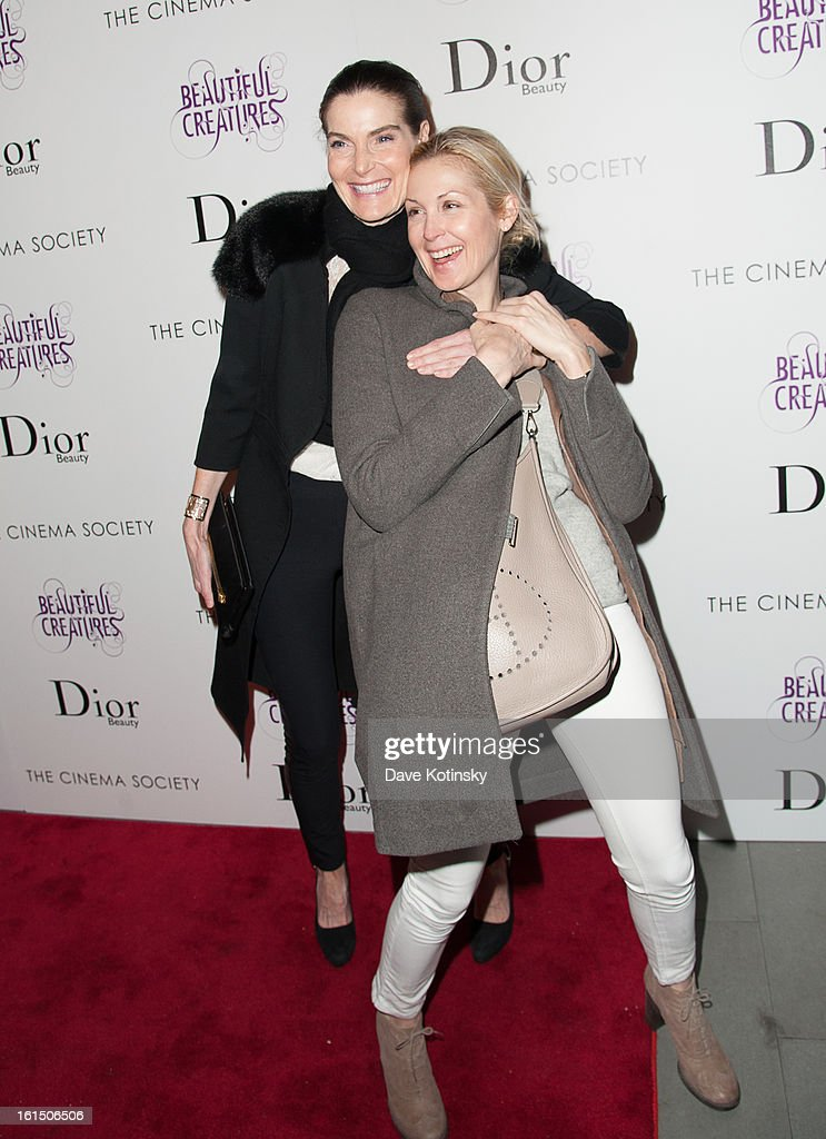 Jenniffer Creel and <a gi-track='captionPersonalityLinkClicked' href=/galleries/search?phrase=Kelly+Rutherford&family=editorial&specificpeople=217987 ng-click='$event.stopPropagation()'>Kelly Rutherford</a> attends The Cinema Society And Dior Beauty Presents A Screening Of 'Beautiful Creatures' at Tribeca Cinemas on February 11, 2013 in New York City.