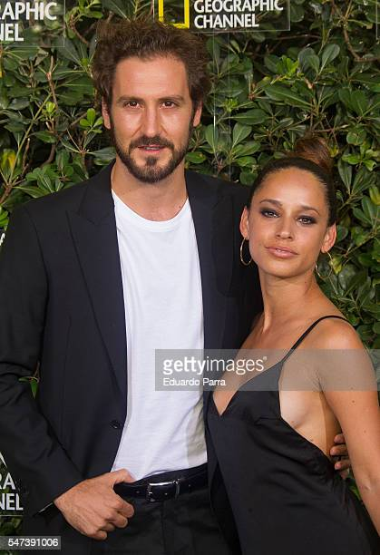 Jenny Arias and Alex Gadea attend the National Geographic Channel 15th Anniversary photocall at the EEUU embassy on July 14 2016 in Madrid Spain