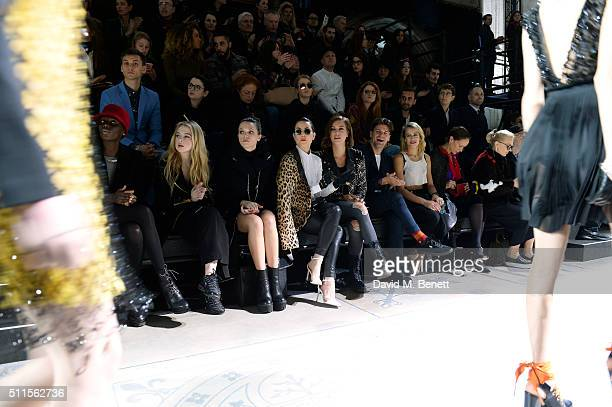 Jenny Bastet Anais Gallagher Anna Brewster Noomi Rapace Ellinor Olovsdotter Jack Penate Alice Dellal and Andrea Dellal sit in the front row at the...