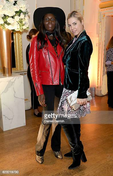 Jenny Bastet and Amber Le Bon attend a private dinner hosted by Stuart Weitzman and Gigi Hadid to celebrate the opening of the Stuart Weitzman London...