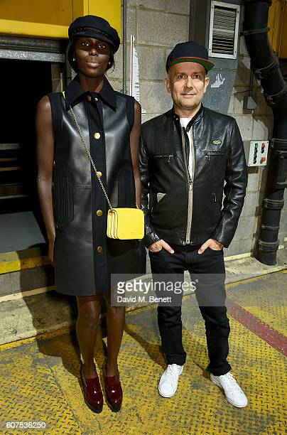 Jenny Bastet and Marc Quinn attend the Mulberry Spring/Summer 2017 Show at The Printworks on September 18 2016 in London England