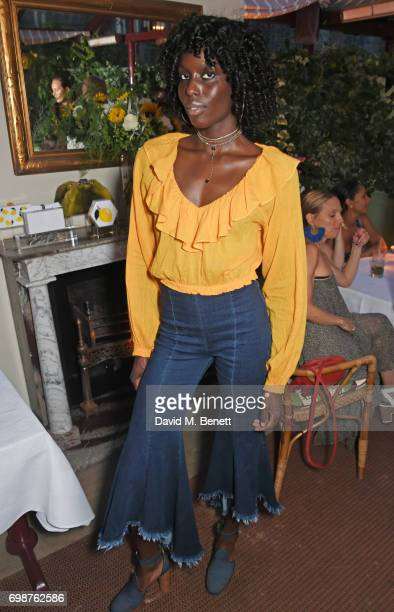 Jenny Bastet attends a cocktail evening to celebrate the Edie Parker Resort 2018 collection at Mark's Club on June 20 2017 in London England
